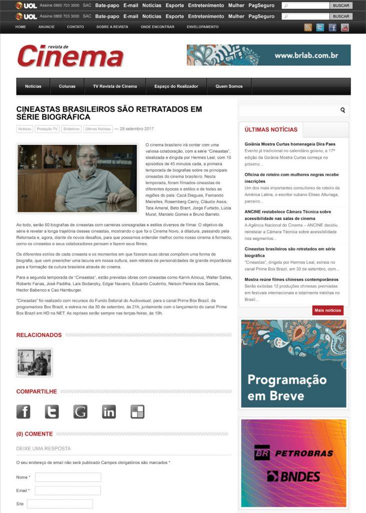 Cineastas brasileiros são retratados em série biográfica   Revista de Cinema-1